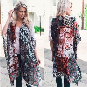 Other - ❤️ Gorgeous, Colorful Boho Kimono Wrap - NWT